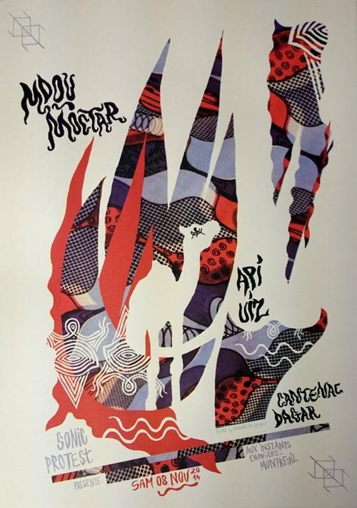 MDOU MOCTAR + API UIZ (2014) Screenprinted Poster
