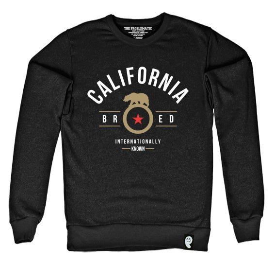 Image of Cali Bred (SF) Black Crewneck