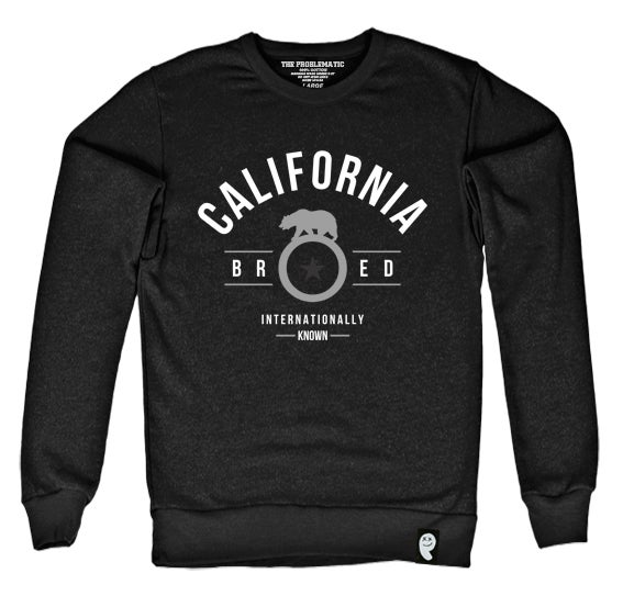 Image of Cali Bred (OAK) Black Crewneck