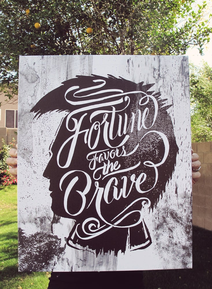 Image of Fortune Favors the Brave - Gallery Canvas