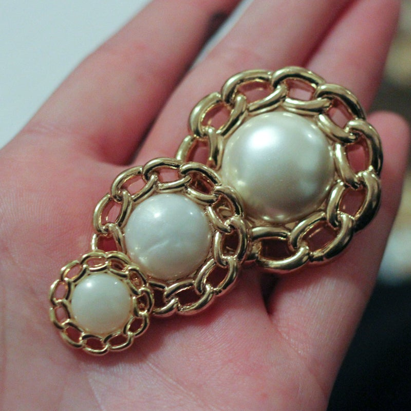 Image of Gold Rope Pearl Plugs (sizes 2g-1 3/8)