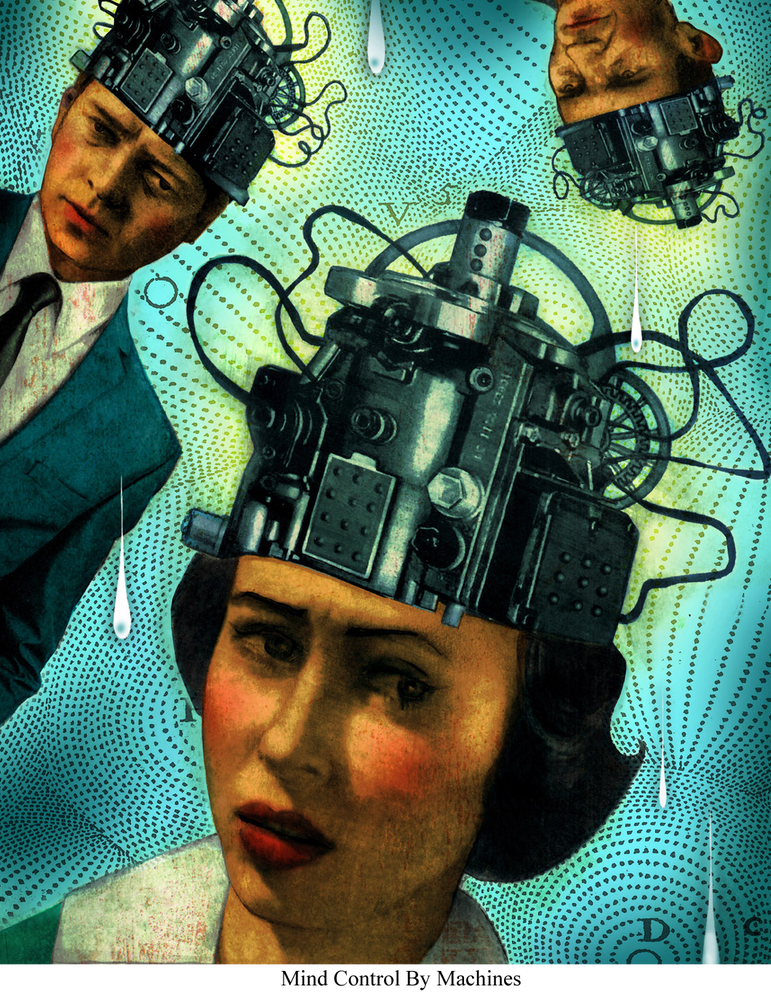 Image of Canvas Giclee- Mind Control By Machines