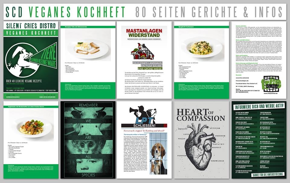 Image of Silent Cries Distro Veganes Kochheft !