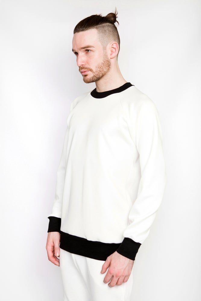Image of Ⅲ Neoprene Ivory Sweater