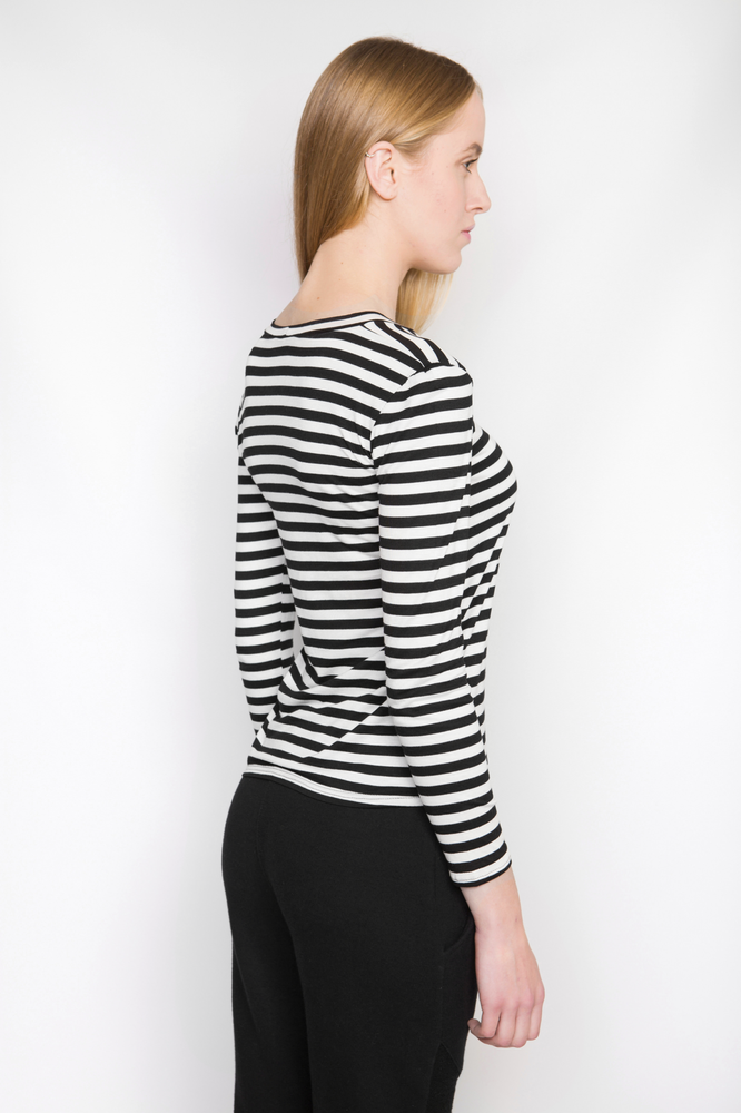 Image of Ⅲ BW Stripe T-Shirt