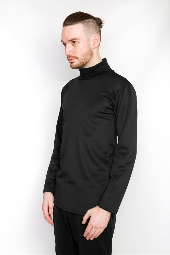 Image of Ⅲ B Neoprene Turtle Neck Sweater
