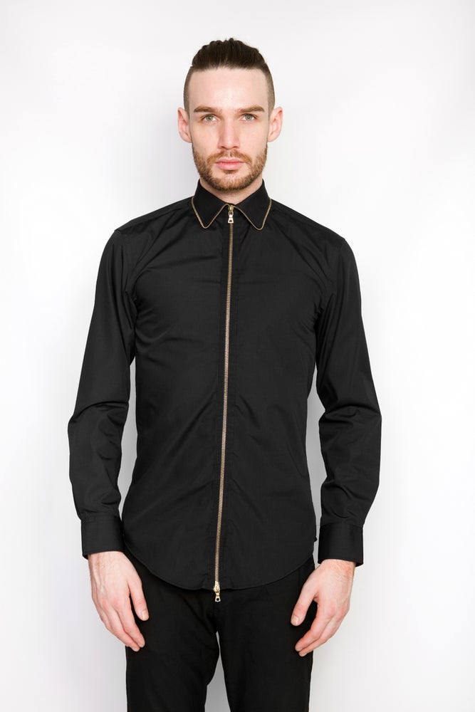 Image of Ⅲ Gold/Black Zip Shirt