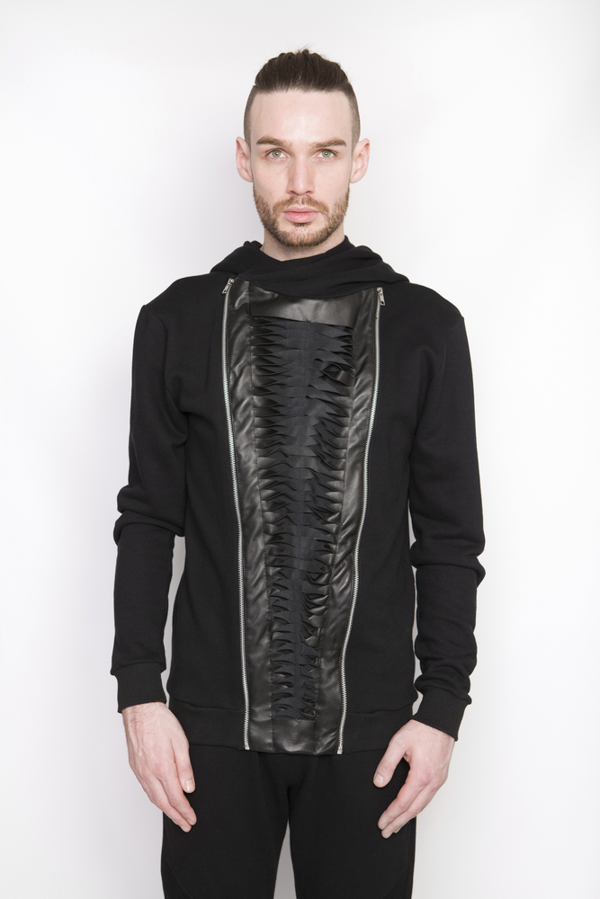 Image of Ⅲ Twist Leather Jacket