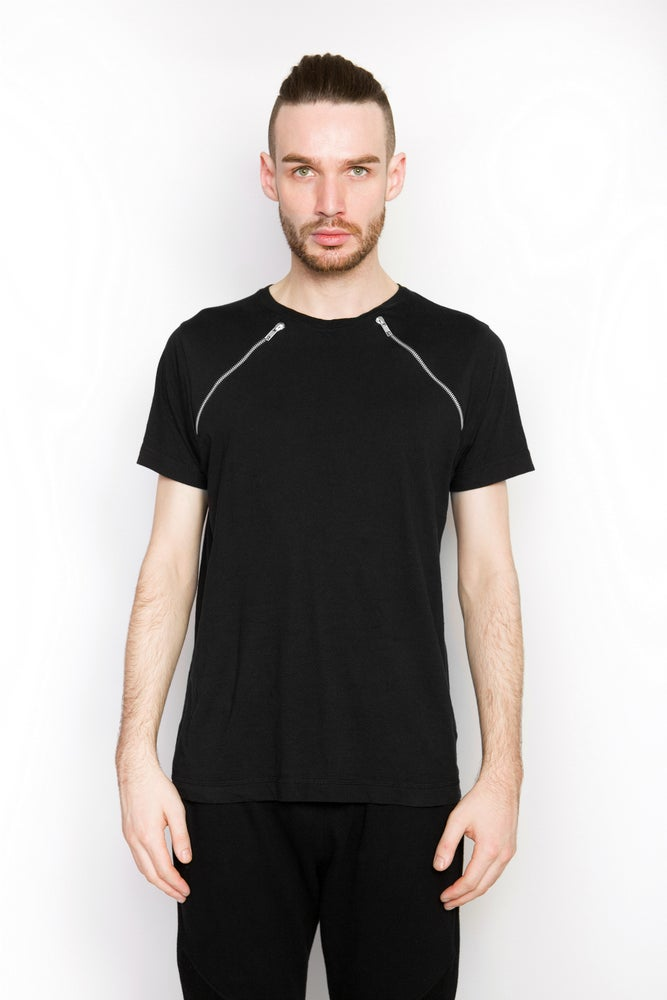 Image of Ⅲ Cross Zip T-Shirt
