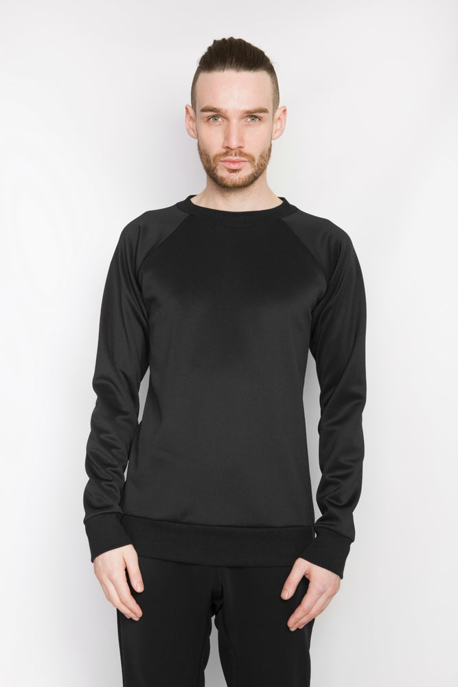 Image of Ⅲ Neoprene Black Zip Sweater