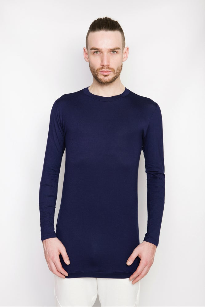 Image of Ⅲ Navy Scoop Neck T-Shirt