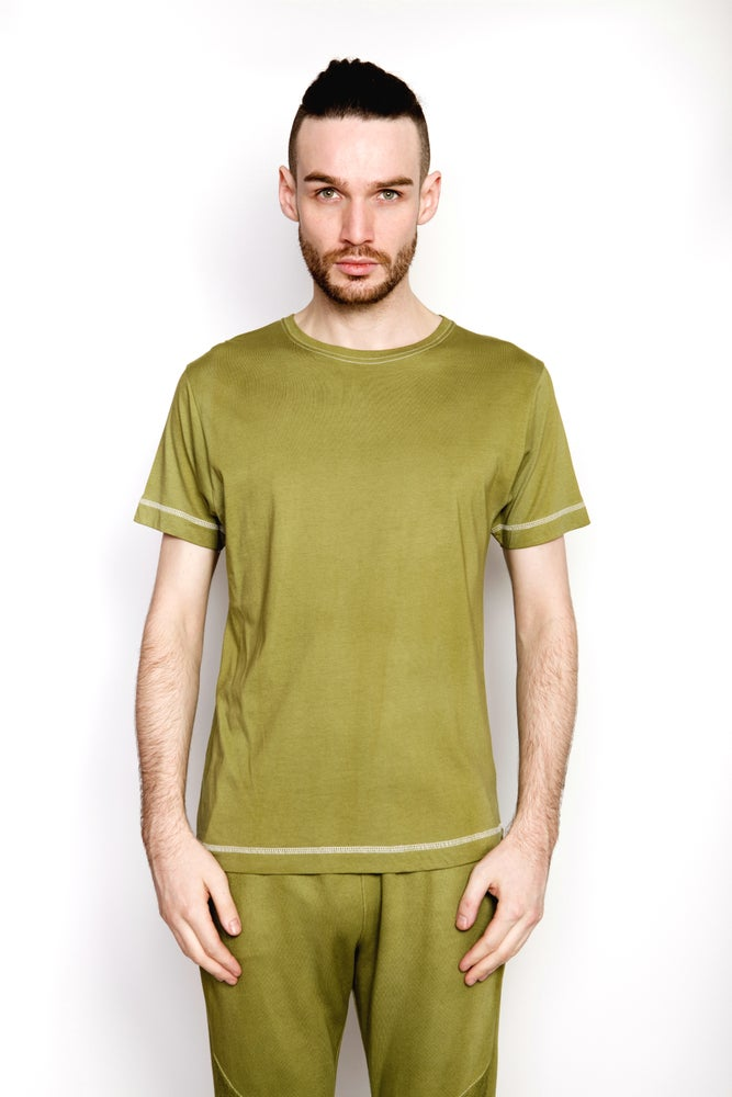 Image of Ⅲ Basic Olive Green T-Shirt
