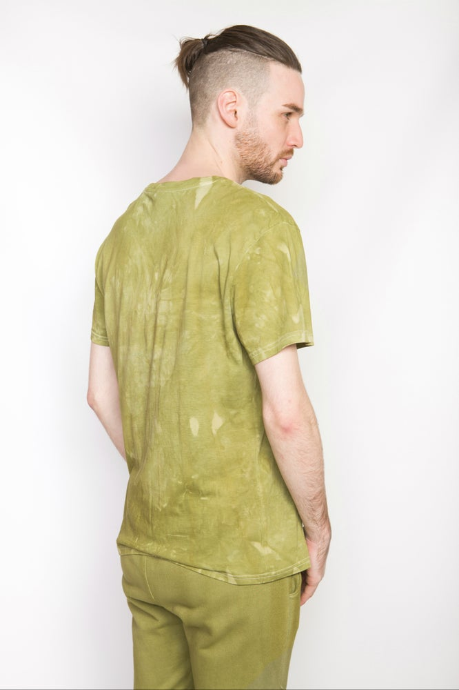 Image of Ⅲ Basic Patch Olive Green T-Shirt