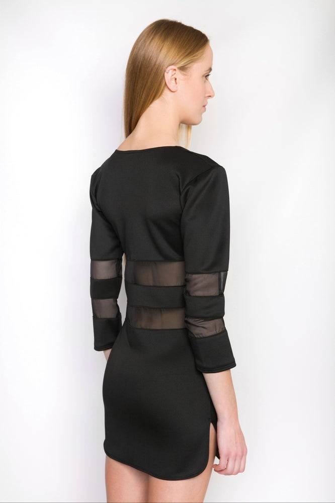Image of Ⅲ Blackout Parallel Dress