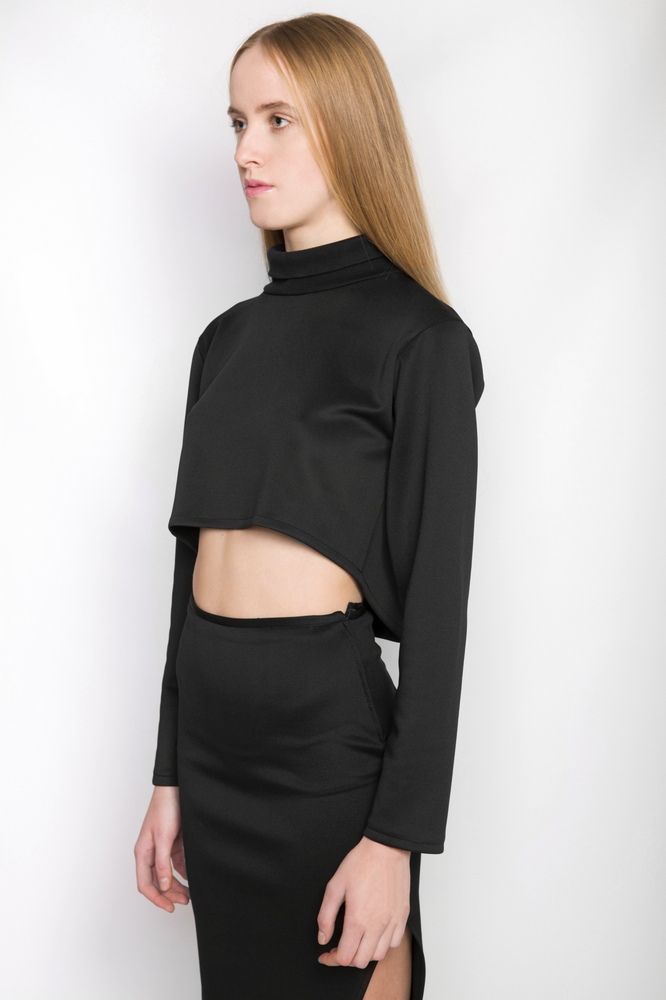 Image of Ⅲ B Turtle Neck Crop Top