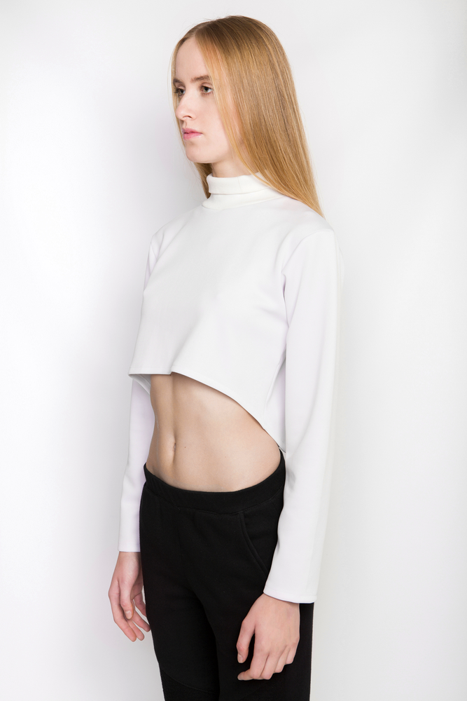 Image of Ⅲ W Turtle Neck Crop Top