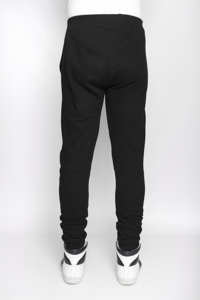 Image of Ⅲ Black Panelled Sweatpants - M