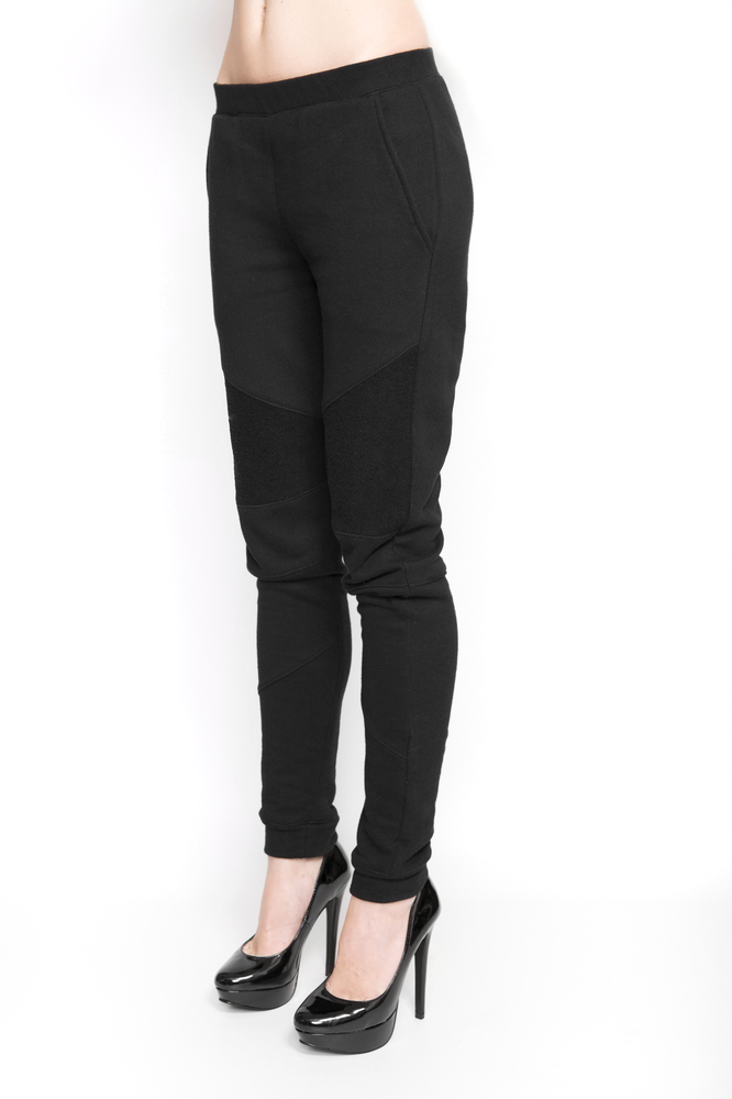 Image of Ⅲ Black Panelled Sweatpants - W