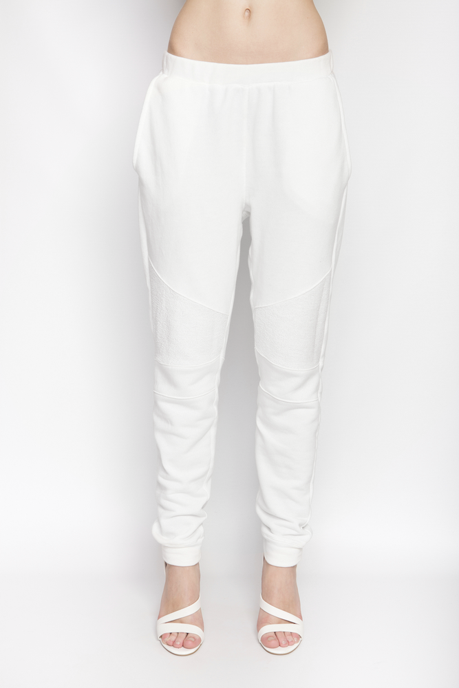Image of Ⅲ White Panelled Sweatpants - W