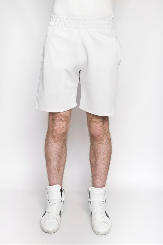 Image of Ⅲ White Neoprene Shorts
