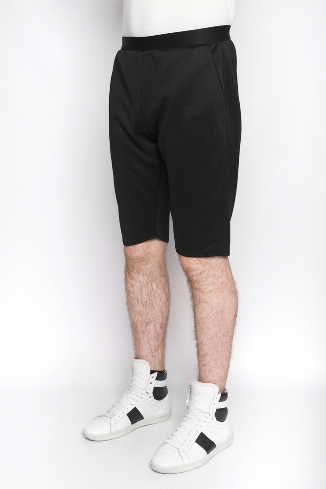 Image of Ⅲ Black Neoprene Shorts