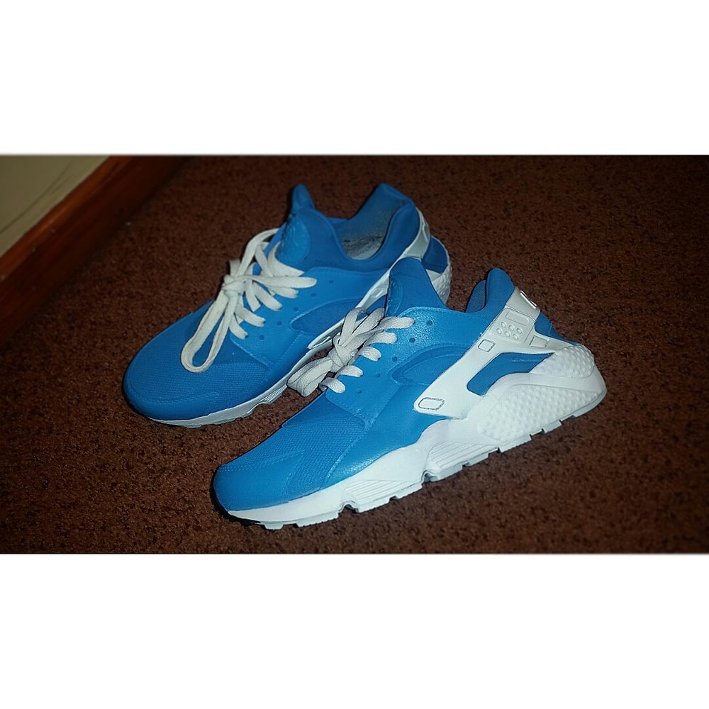 factory price 600a6 238a8 Nike huarache Baby Blue x White