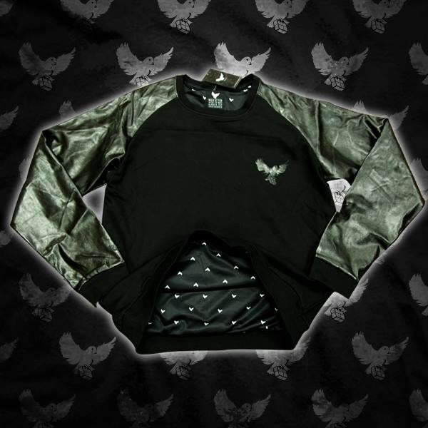 Image of Leather Cut & Sew Crewneck Sweater (Limited Edition)