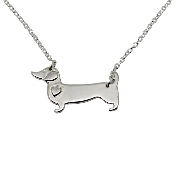 Image of Sausage Dog Sterling Silver Necklace