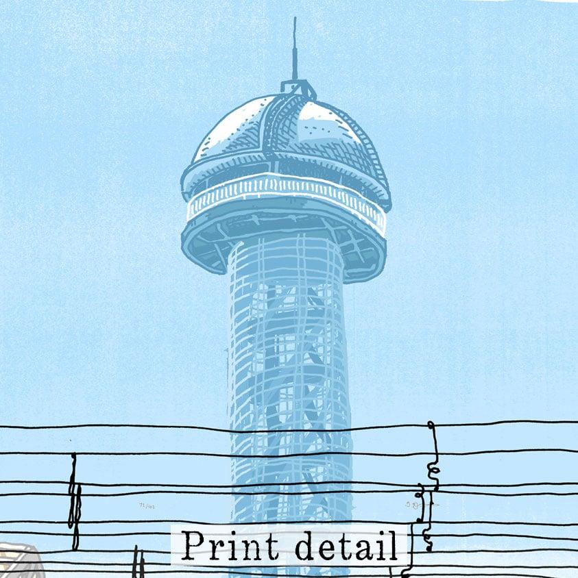 Image of Newcastle Signal Box Digital Print