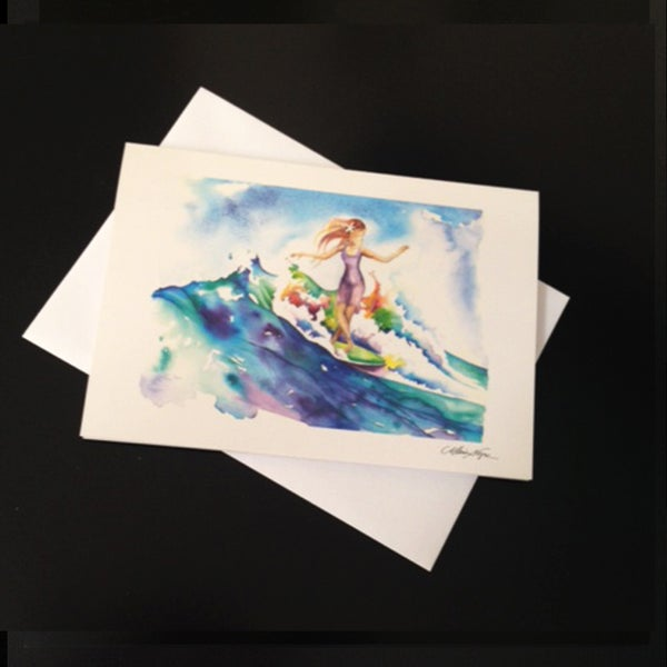 Image of Surfer Girl 5-Set Greeting Card Set