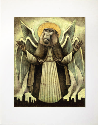 Image of Matted Print- Monkey Gone To Heaven