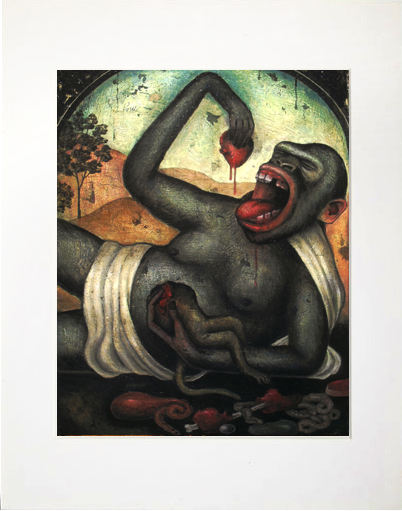 Image of Matted Print- Gluttony