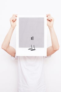 Image of Trying To Disappear - Framed Screenprint