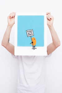 Image of The Protester - Framed Screenprint