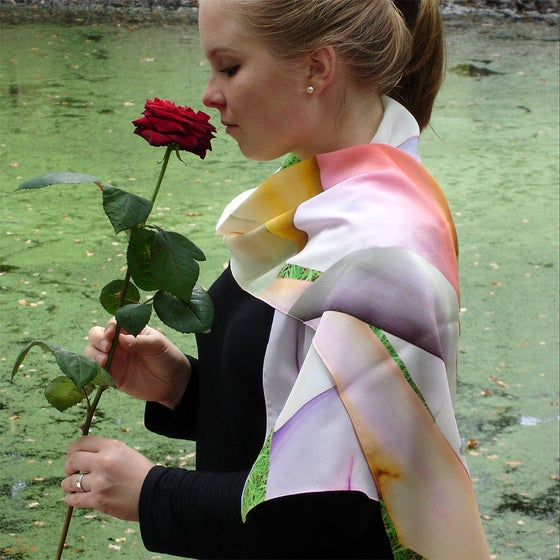Image of Digitally printed silk scarf Complex