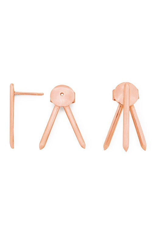 Image of Claw Earrings Pair Gold or Rosé