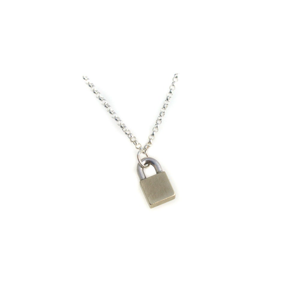 Image of little lock necklace