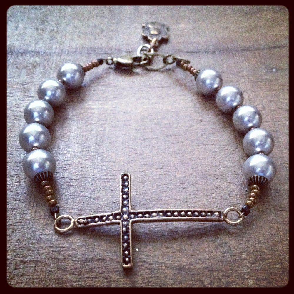 Image of ST. JOAN of ARC CROSS Bracelet