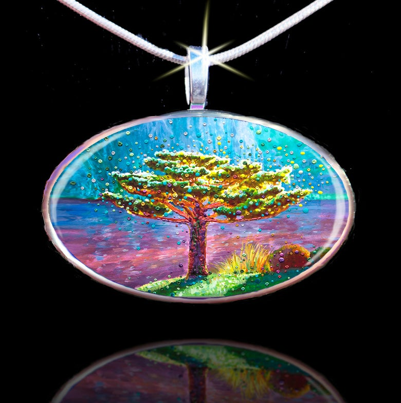 Image of The Tree Of Gratitude Pendant - Your path to joy and happpiness