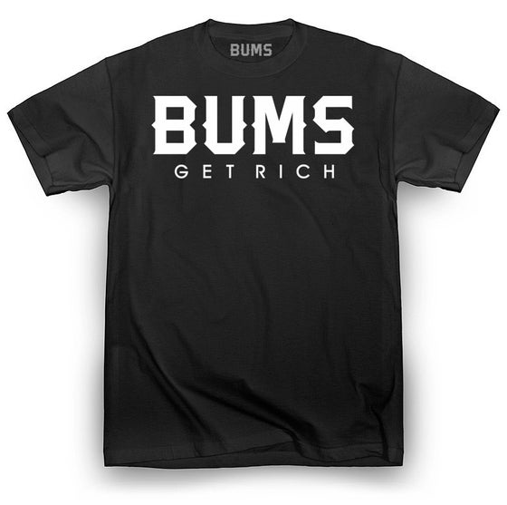Image of BUMS Mens Black T-Shirt