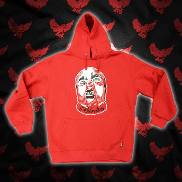 Image of Red/White Birdies Ski Mask Hoodie (Limited Edition)