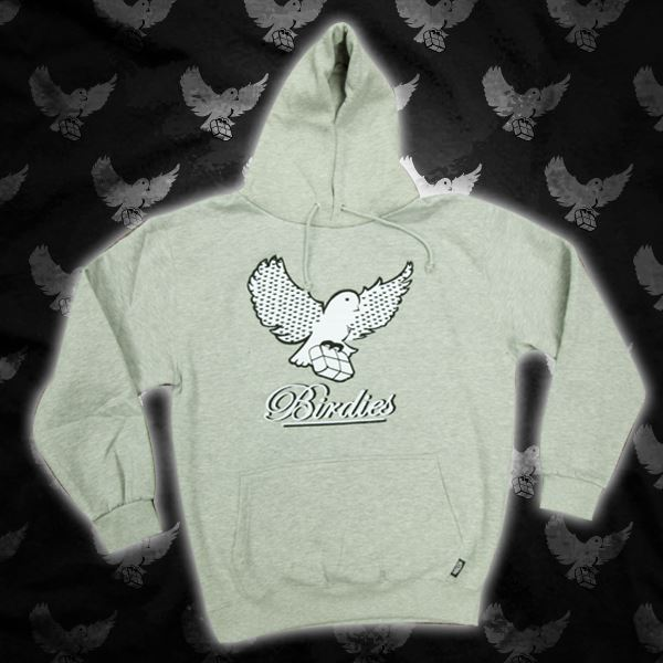 Image of Grey/Black Birdies Pattern Hoodie