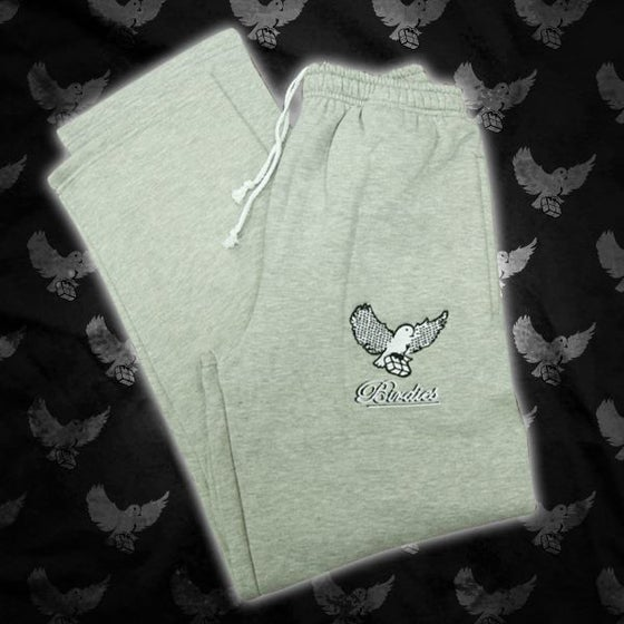 Image of Grey/Black  Birdies Pattern Sweatpants