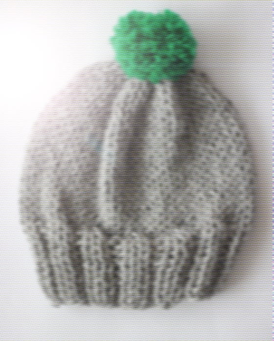 Image of bobble hat grey