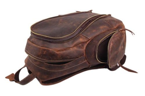 Image of Handcrafted Genuine Leather Backpack Travel Backpack,Laptop Bag, School Backpack JW10