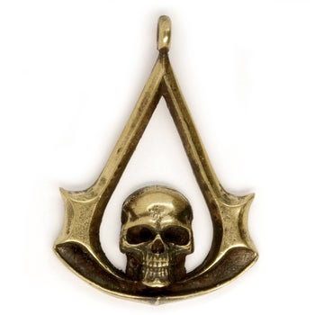 Image of Pendant : JOLLY ROGER / JOLLY ROGER SKULL / PIRATE JOLLY ROGER : Necklace / keychain