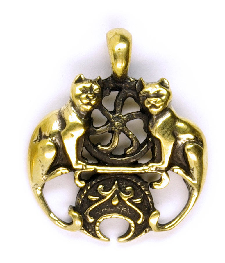 Image of Pendant : COUPLE OF CATS : Necklace / Keychain