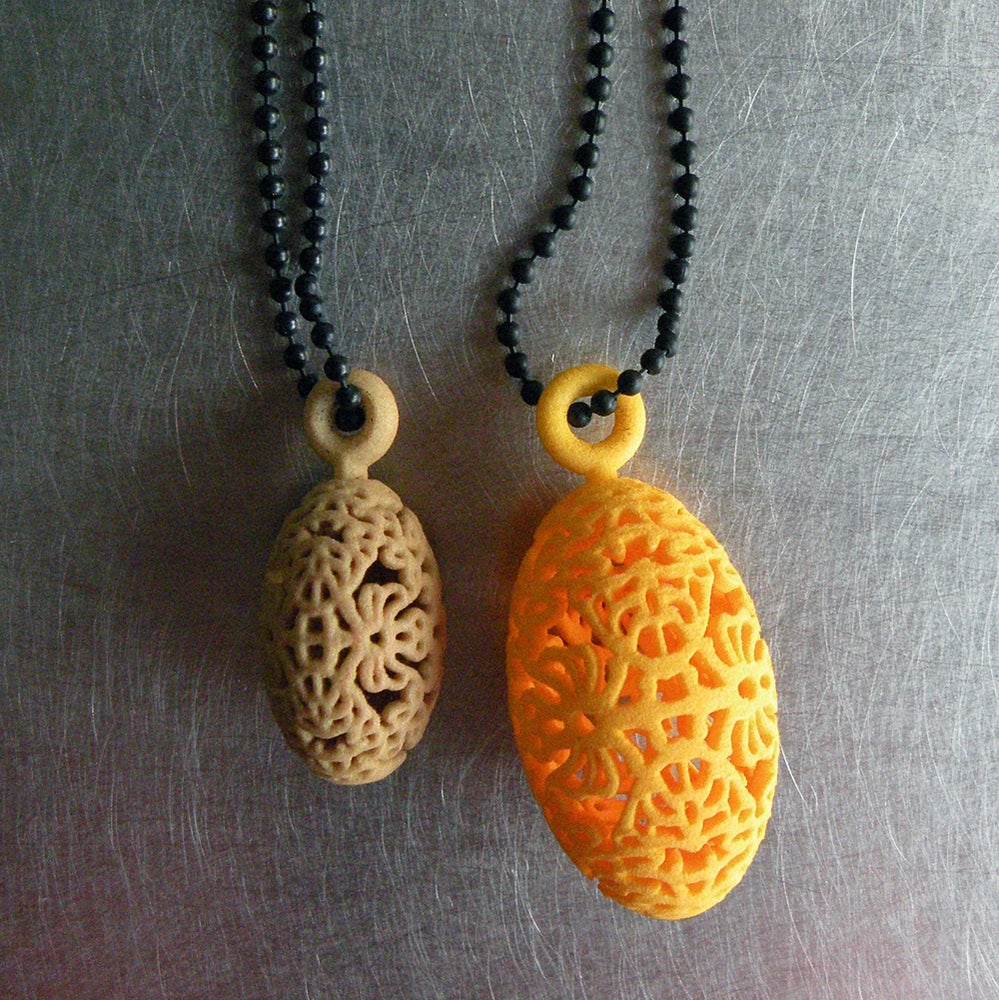 Image of 3D printed pendant OVAL.floral