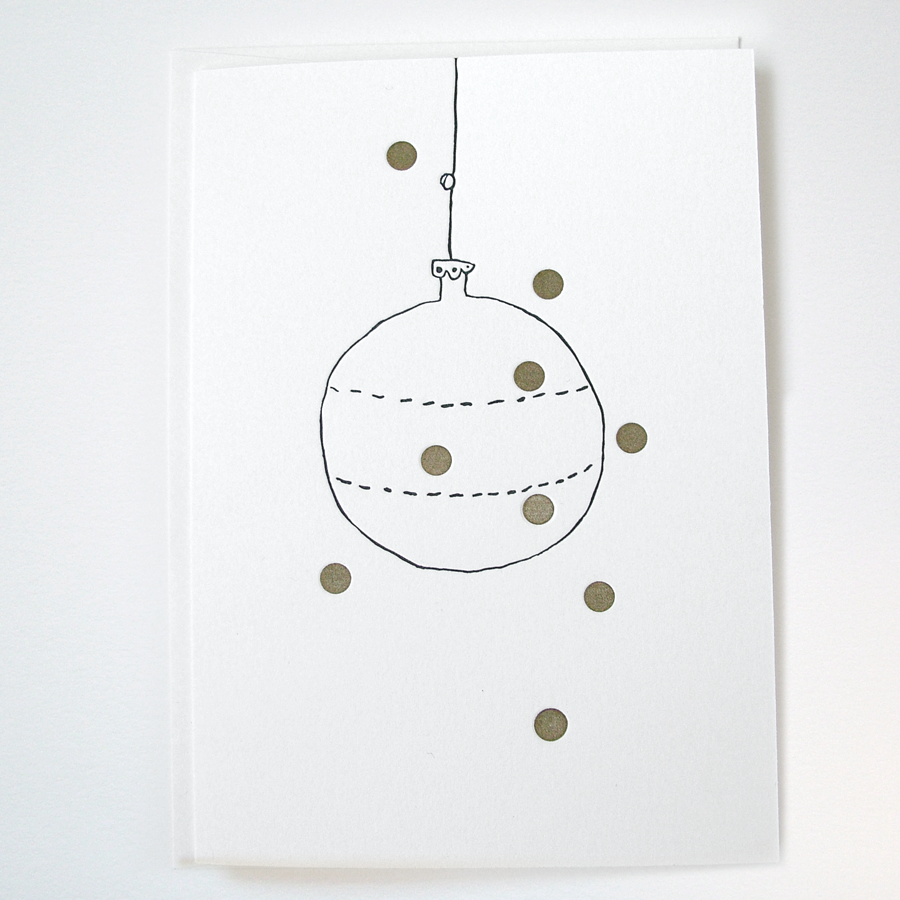 Image of GOLDIE 'FANDANGLE' - LETTERPRESS CHRISTMAS CARD