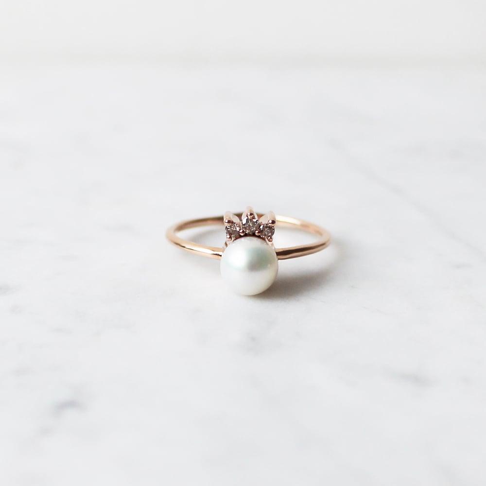 Image of Tiara Pearl Ring